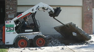 example of concrete removal in Chicago, IL